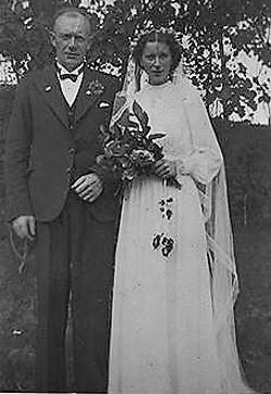 Brudebilete av Hermann og Lovise Lammetun. Dei gifta seg i september 1941.